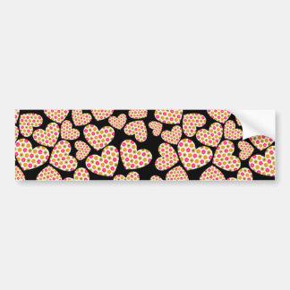 Flower Power Hearts Bumper Sticker