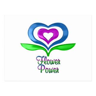 Flower Power Hearts Postcard