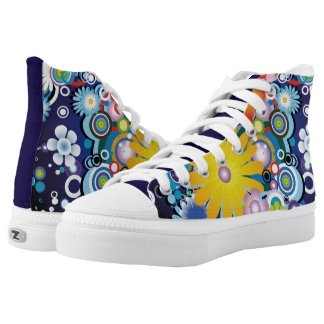 Flower Power High Top Shoes Printed Shoes