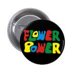 Flower power hippie 2 inch round button