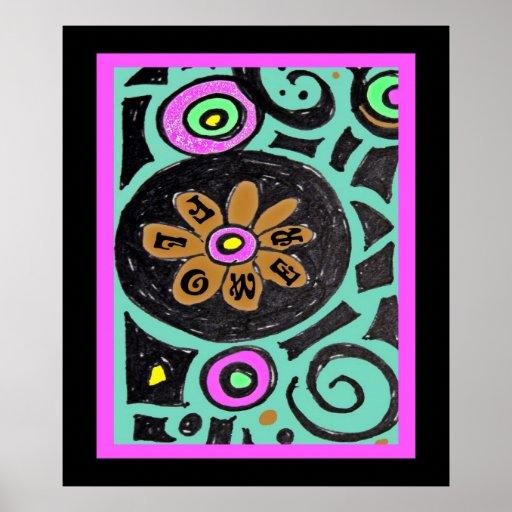 Flower Power Hippie Poster
