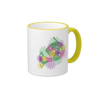 Flower Power Horn Ringer Coffee Mug