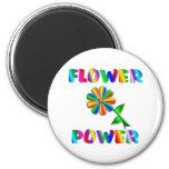 Flower power iman para frigorífico