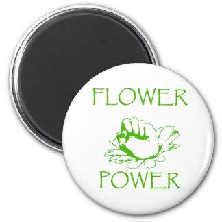 """Flower power "" Imán Redondo 5 Cm"