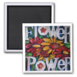Flower power imanes de nevera