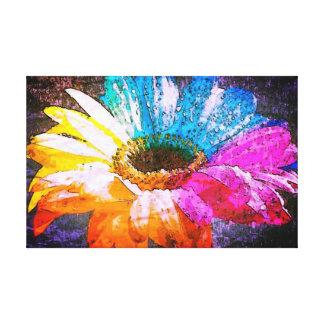 Flower power impresión en lona estirada
