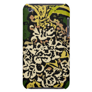 Flower Power in Gold and White iPod Touch Cases