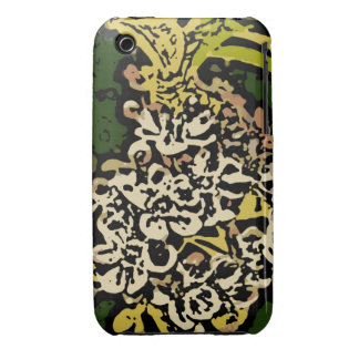 Flower Power in Gold and White iPhone 3 Case-Mate Case