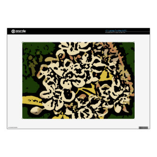 Flower Power in Gold and White Laptop Decal