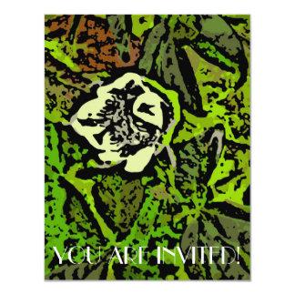 "Flower Power in Green 4.25"" X 5.5"" Invitation Card"