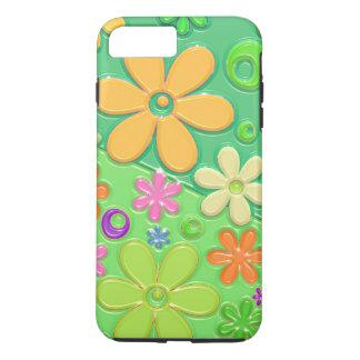Flower Power in Green iPhone 7 Plus Case