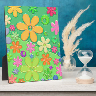 Flower Power in Green Display Plaques