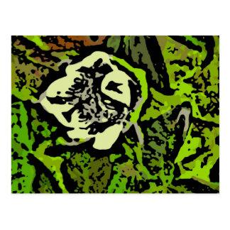 Flower Power in Green Postcard
