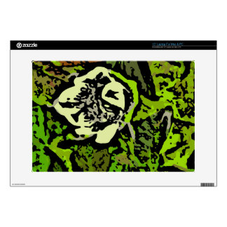 Flower Power in Green Decal For Laptop