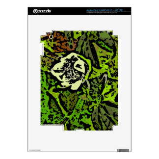 Flower Power in Green Decals For iPad 3