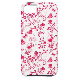 Flower Power in Hot Pink and White iPhone Case