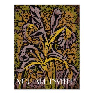 Flower Power in Lavender 4.25x5.5 Paper Invitation Card