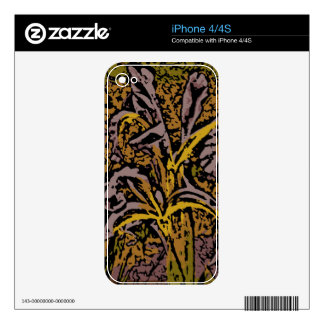 Flower Power in Lavender iPhone 4 Decal