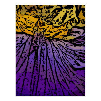 Flower Power in Purple and Yellow Postcard