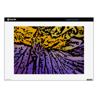 """Flower Power in Purple and Yellow 15"""" Laptop Decals"""