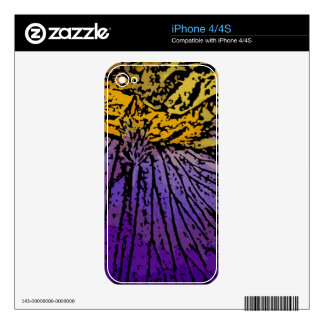 Flower Power in Purple and Yellow Skins For iPhone 4S