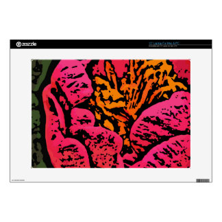 Flower Power in Red and Yellow Decals For Laptops