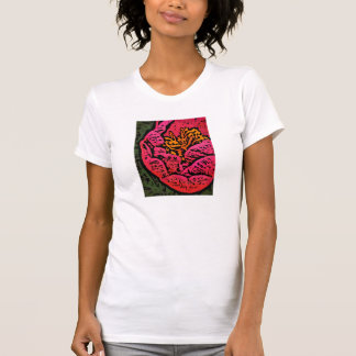 Flower Power in Red and Yellow T-shirt