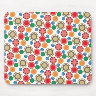 Flower Power in Rows 002 Mouse Pad
