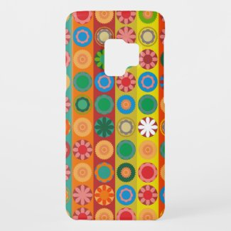 Flower Power in rows Case-Mate Samsung Galaxy S9 Case