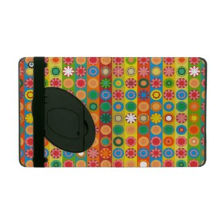 Flower Power in rows iPad Cover