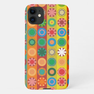 Flower Power in Rows iPhone 11 Case
