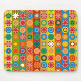 Flower Power in Rows Mouse Pad