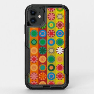 Flower Power in Rows OtterBox Commuter iPhone 11 Case