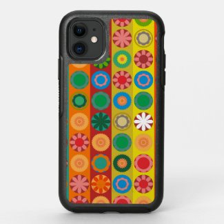 Flower Power in Rows OtterBox Symmetry iPhone 11 Case