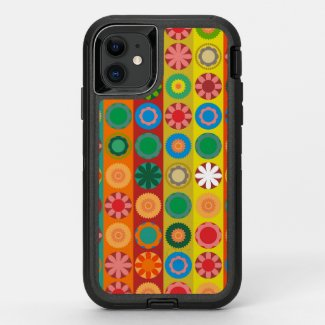 Flower Power in Rows OtterBox Defender iPhone 11 Case