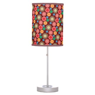 Flower Power in Rows Table Lamp