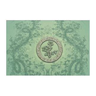 Flower power in soft green colors acrylic wall art