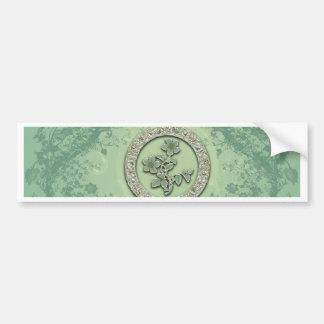 Flower power in soft green colors bumper sticker