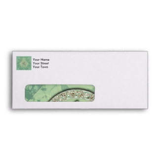 Flower power in soft green colors envelope