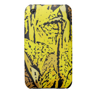 Flower Power in yellow iPhone 3 Cover
