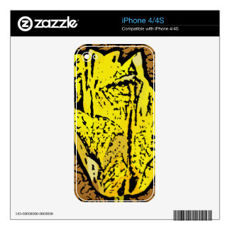 Flower Power in Yellow Decal For The iPhone 4