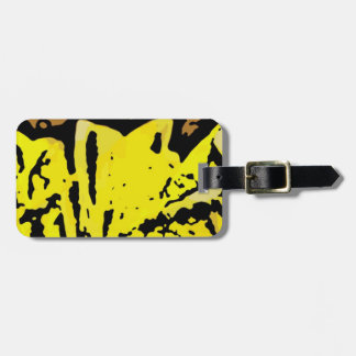Flower Power in Yellow Tag For Luggage