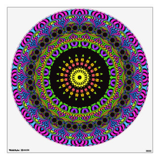 flower power kaleidoscope fractal ART I Wall Decal