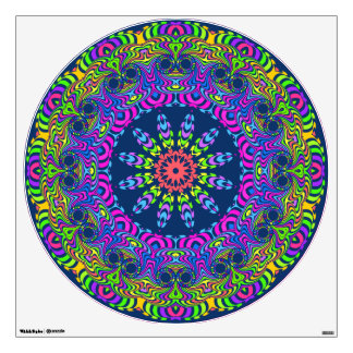 flower power kaleidoscope fractal ART II Wall Sticker