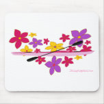 Flower Power Kayak Mouse Pad