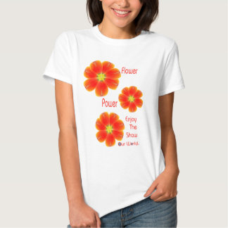 Flower Power Ladies Baby Doll Fitted T-Shirt