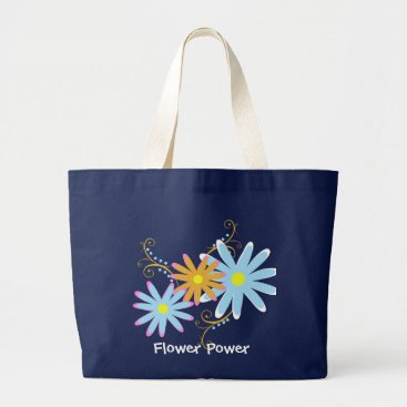 Flower Power Large Tote Bag
