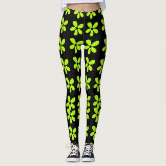 Flower-Power-Lime-Daisies(c)_XS-XL_Leggings_ Leggings