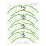 Flower Power Lime Number or Initial Cupcake Cosies Letterhead