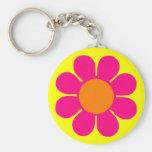 Flower power llaveros personalizados